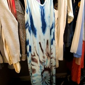 Tidied V neck long Maxi Dress